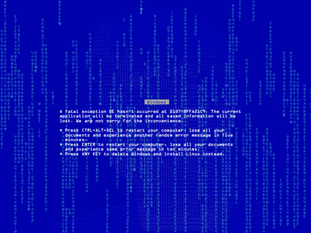 Image 18813 Blue Screen Of Death Bsod Know Your Meme