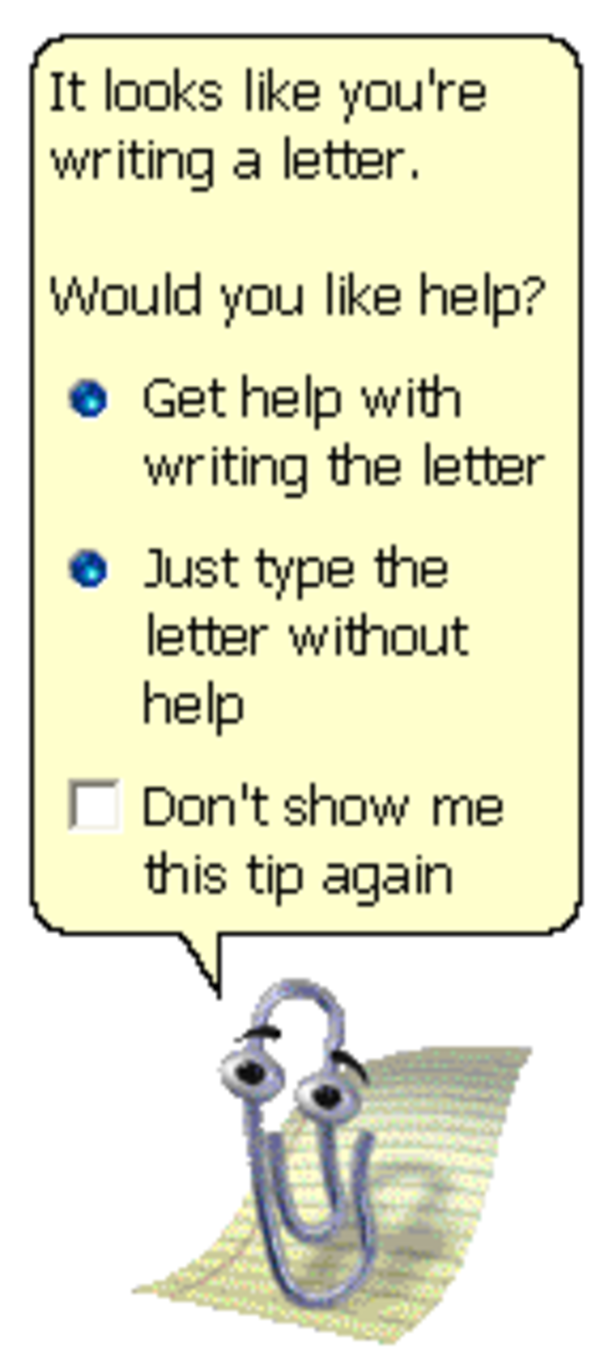 It looks like you're writing a letter. | Clippy | Know Your Meme