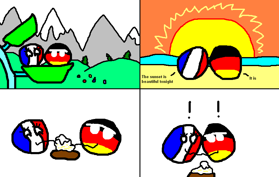 France And Germany On A Romantic Excursion Polandball Know Your Meme