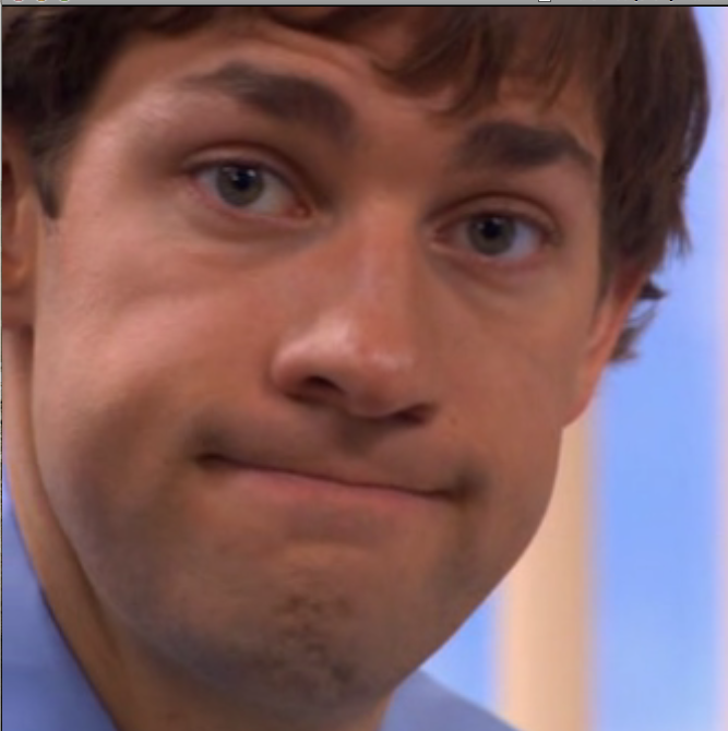 jim halpert face reaction images know your meme