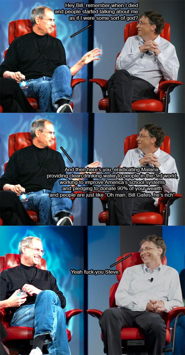 Steve Jobs & Bill Gates on Philanthropy | Steve Jobs' Death