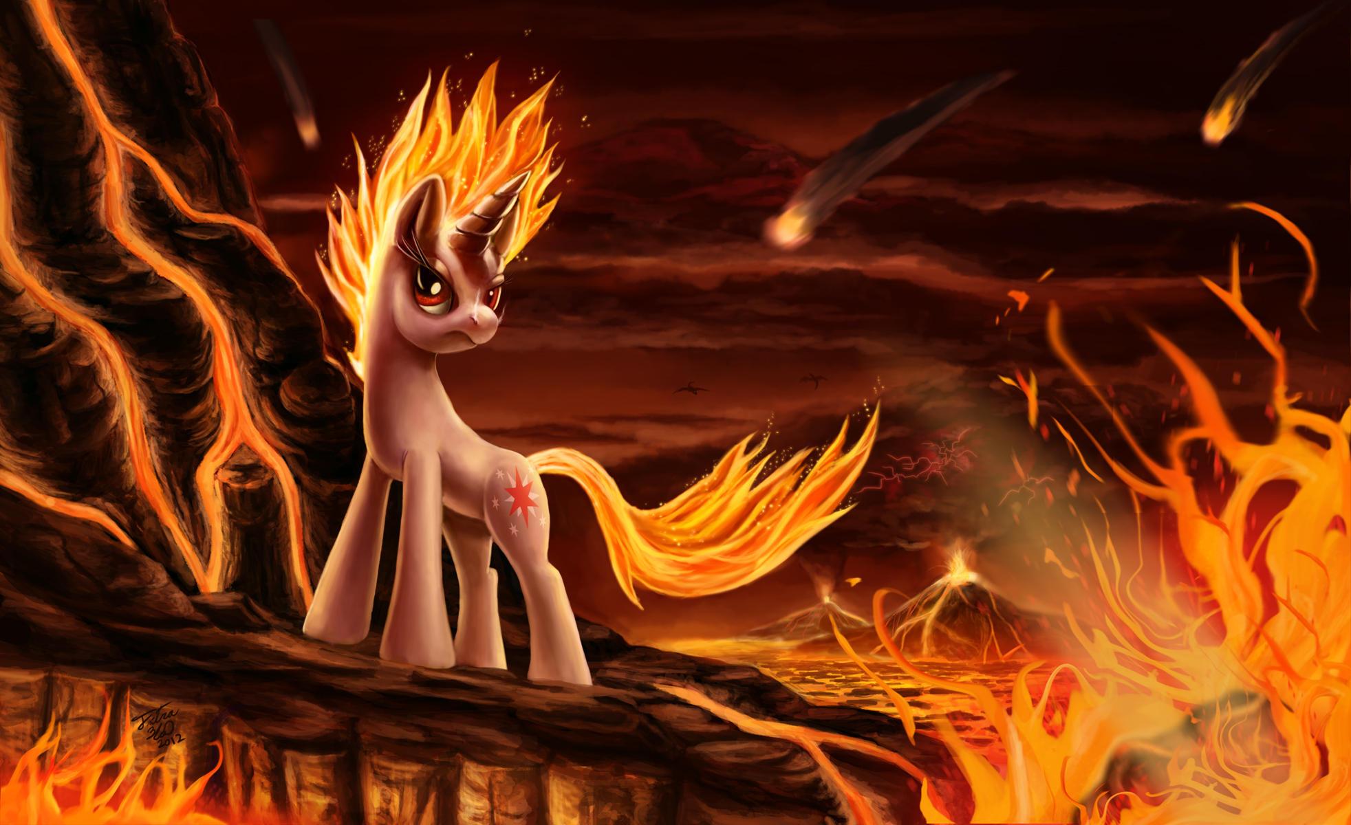 картинки пони огня и воды преданиям