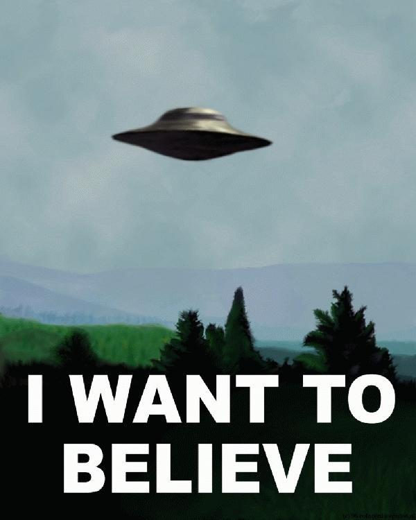 I WANT TO BELIEVE Fox Mulder Dana Scully Airplane Aircraft Sky