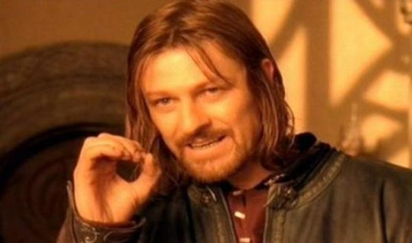 One Does Not Simply Walk Into Mordor Blank Template