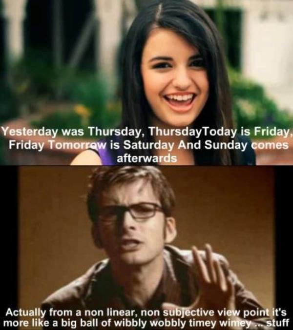 Rebecca Black fails at relativity | Rebecca Black - Friday