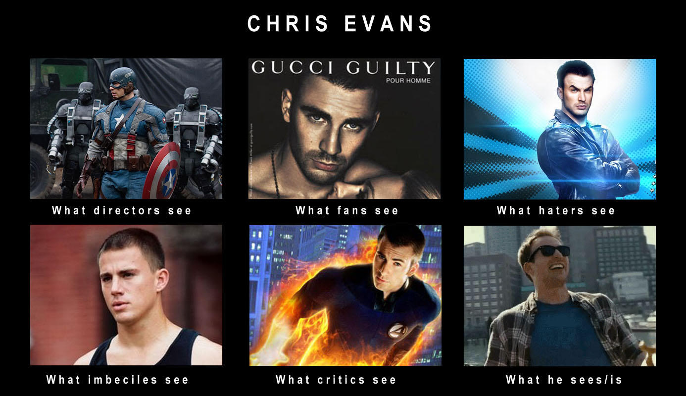 Chris Evans What People Think I Do What I Really Do Know Your Meme