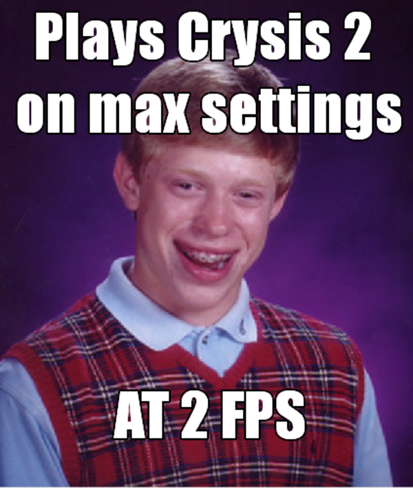 L337 Gam3r Bad Luck Brian Know Your Meme