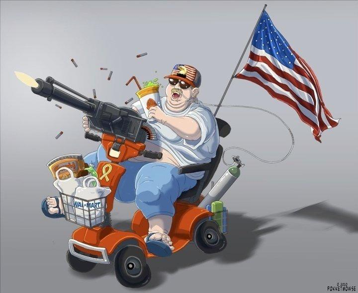 Automatic Shooting Scooter | 'Murica | Know Your Meme