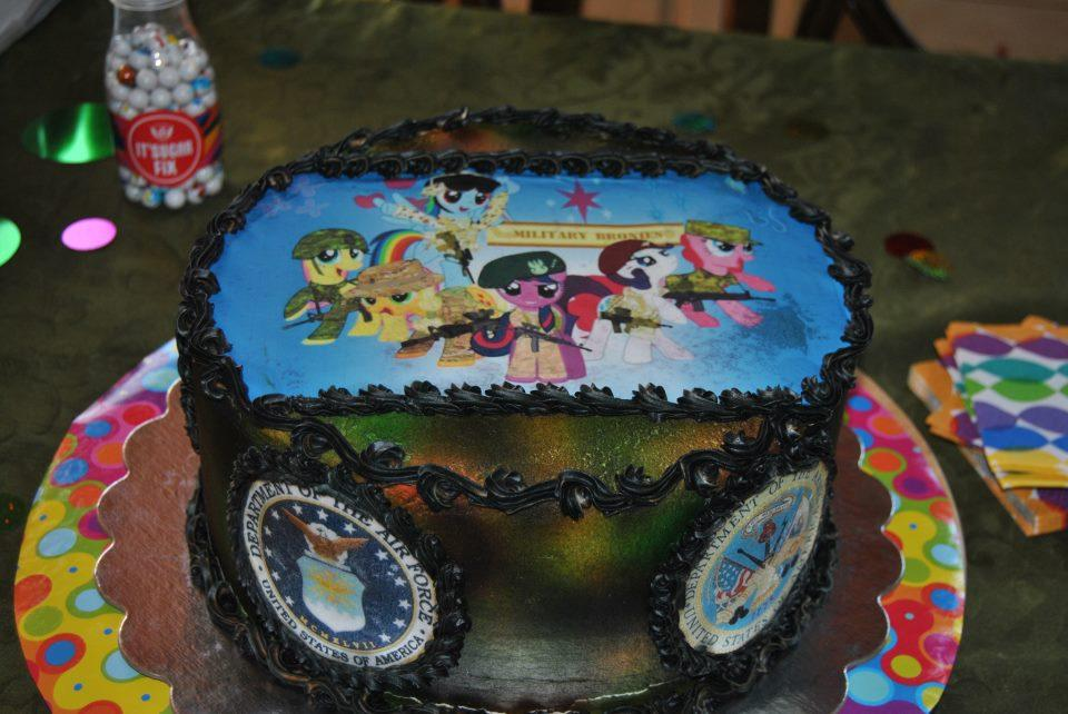 Super A Mom Made Her 13 Year Old Son A Military Brony Birthday Cake And Birthday Cards Printable Opercafe Filternl