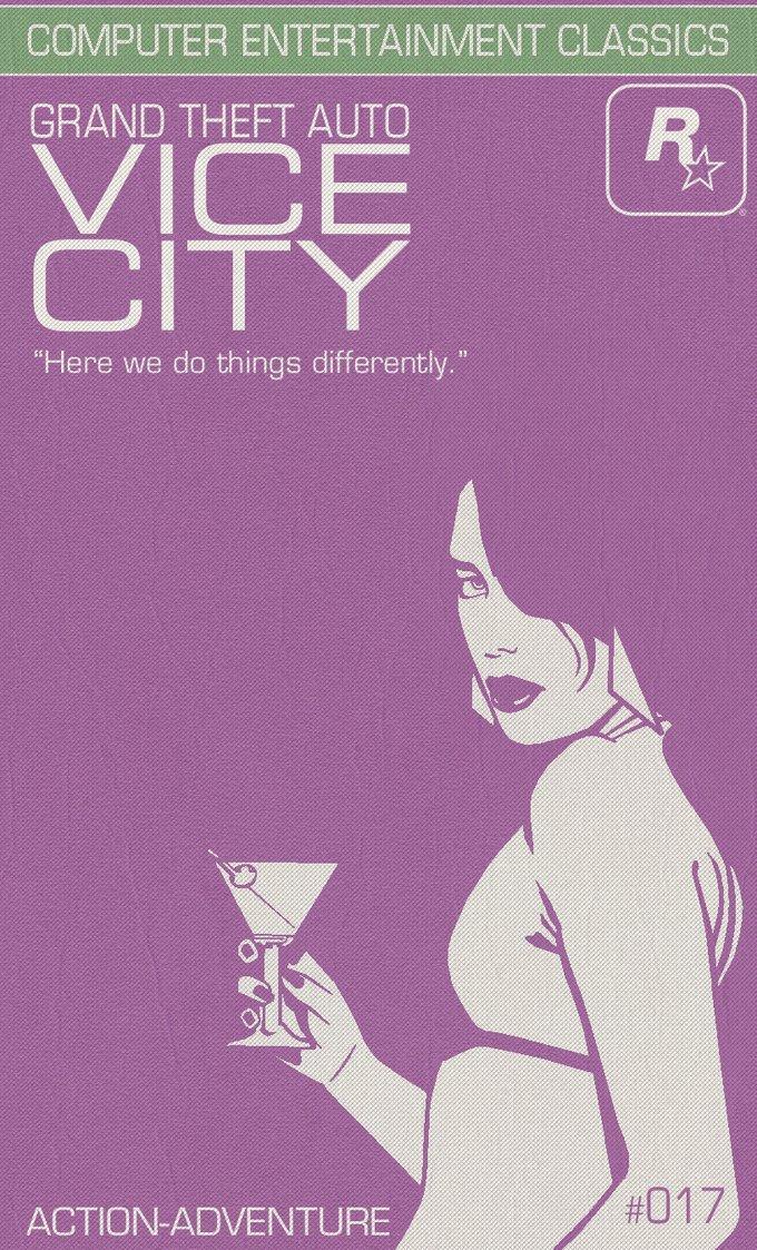 Gta Vice City Courtesan Edition Minimal Movie Posters Know Your Meme