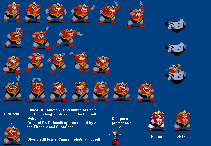 Edited Robotnik Sprite By Connallrobotnik8 Pingas Know Your Meme