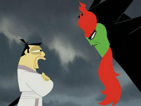 Aku And Jack Switch Faces Samurai Jack Know Your Meme