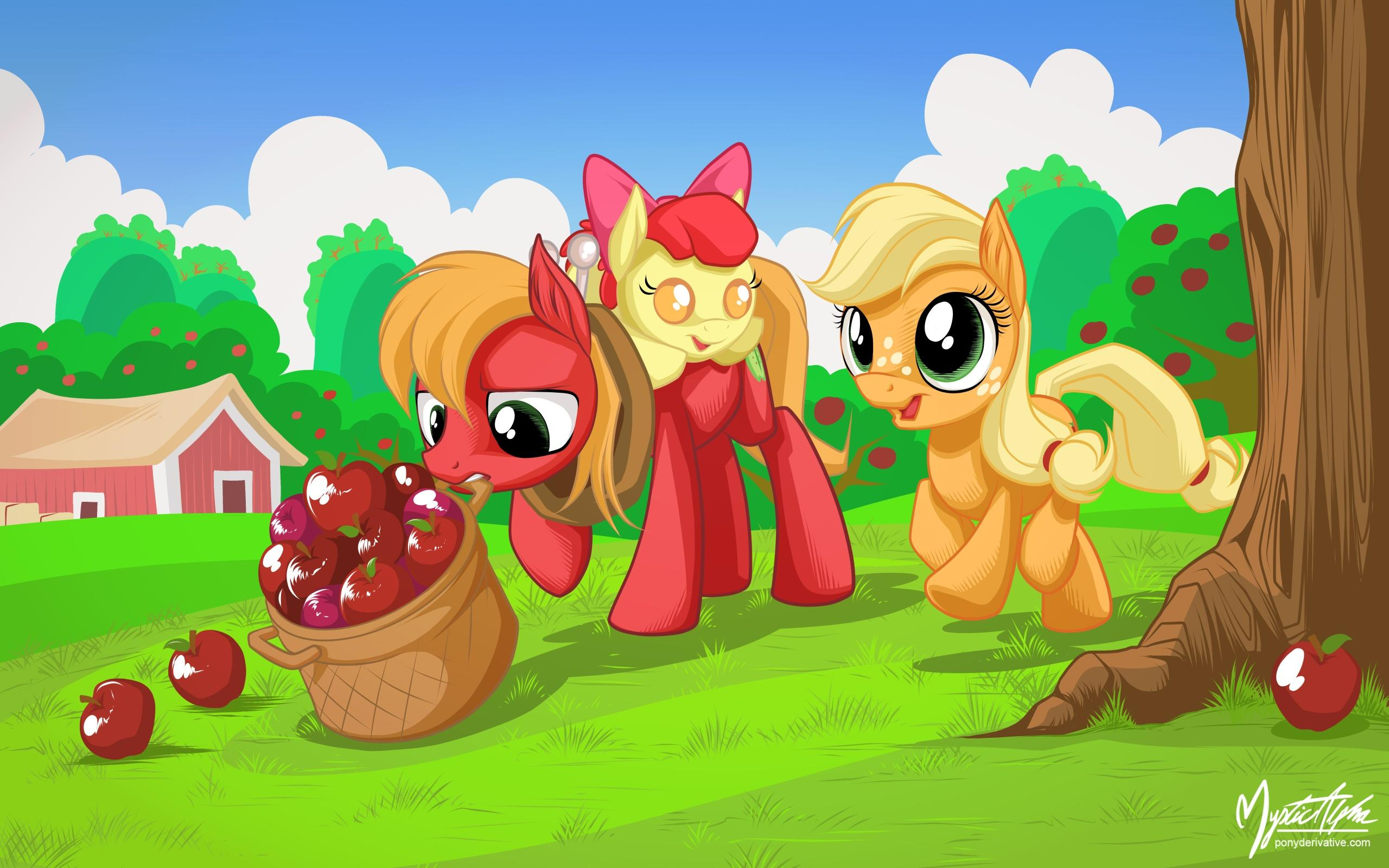 картинки пони эпл джек и ее семья