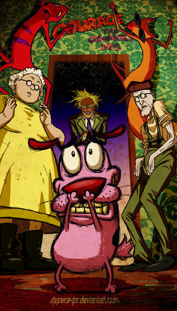 Image 571347 Courage The Cowardly Dog Know Your Meme