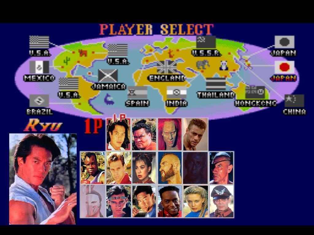 Street Fighter The Movie Player Select Screen Crossover Know Your Meme