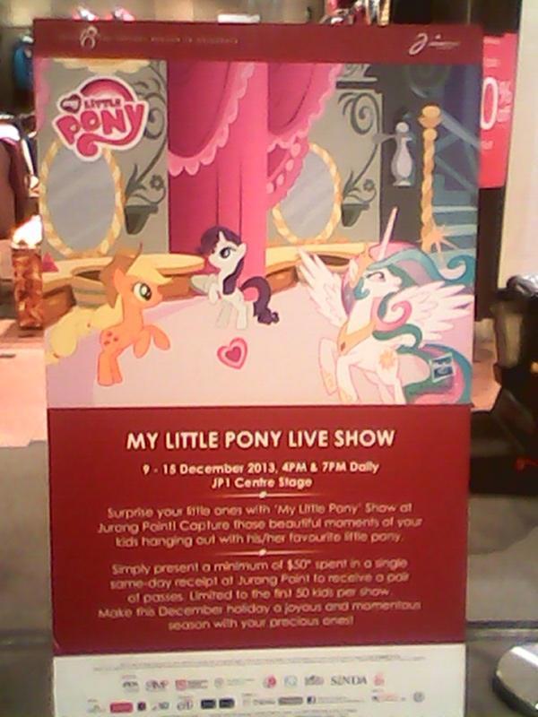 My Little Pony Live Show 9-18 December 2013, 4pm&7pm Dalily Jpi Centre Stoge