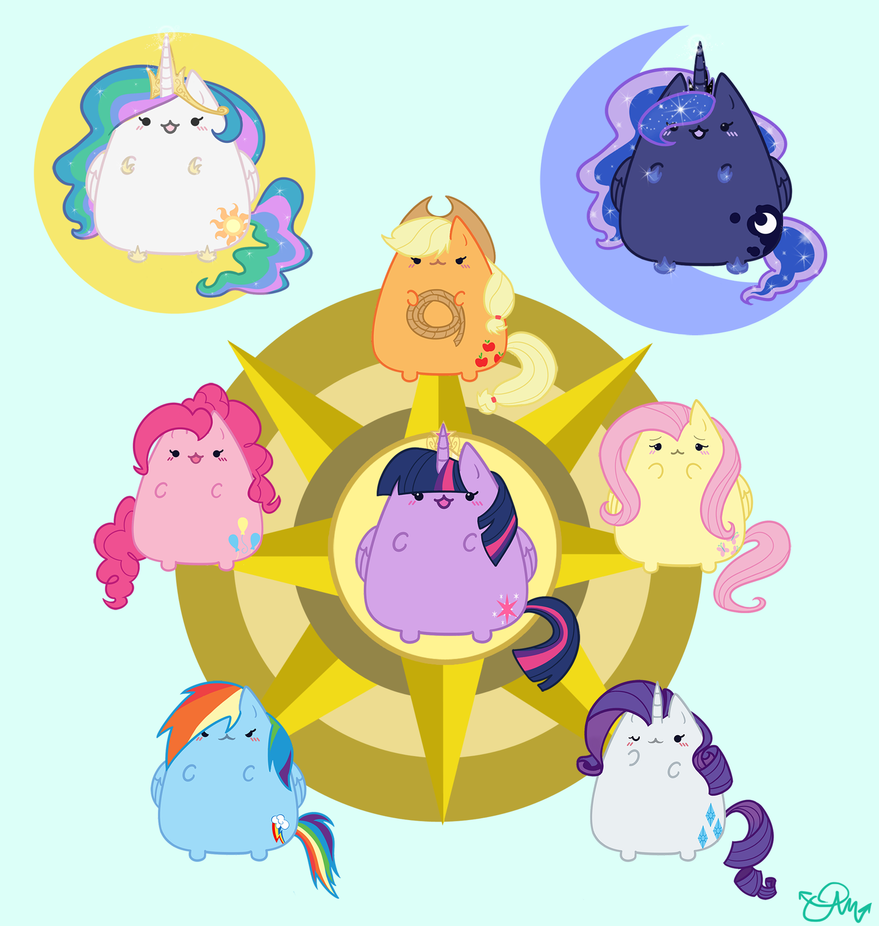 няшные рисунки для лд котики пони погоны
