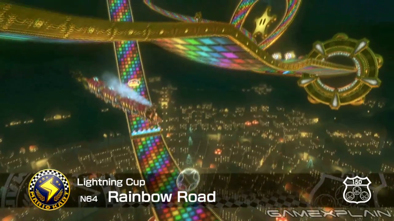 Rainbow Road From Mario Kart 64 Returns In Mario Kart 8 Nintendo