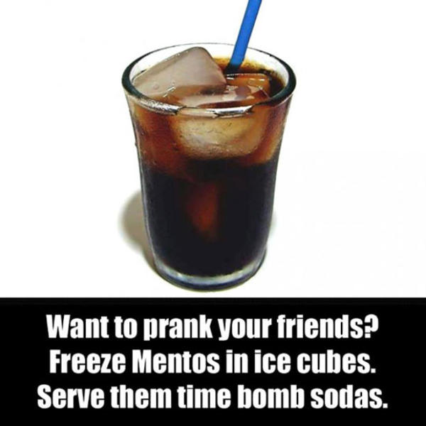 How to do a diet coke and mentos bomb explosion prank « practical.