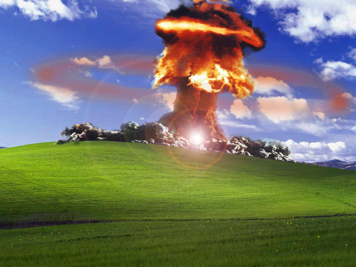 Not So Blissful Anymore Windows Xp Bliss Wallpaper Know Your Meme