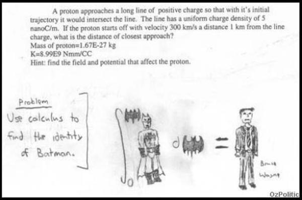 Use Calculus to find the identity of Batman | Funny Exam