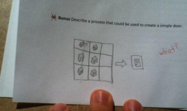 & Minecraft door | Funny Exam Answers | Know Your Meme