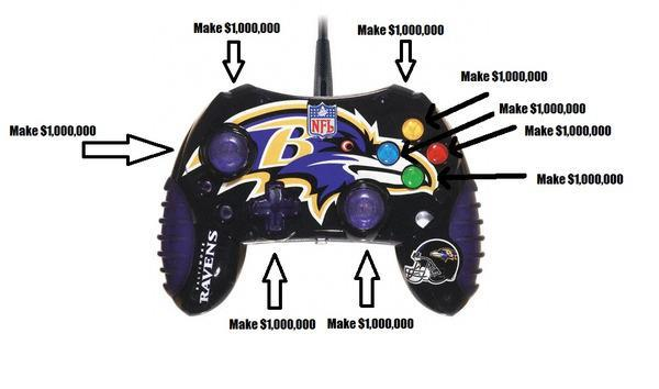 Baltimore Ravens Joe Flacco Special Edition Xbox Controller