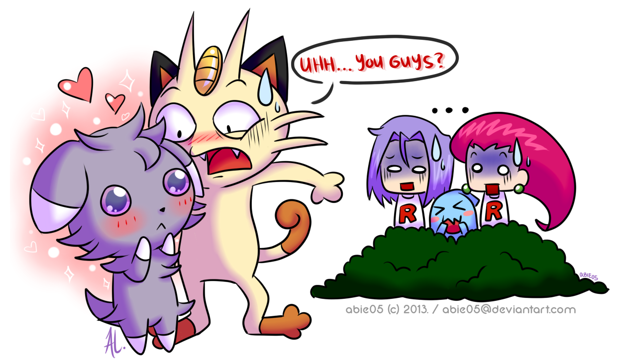 Meowth Meeting A Wild Espurr Pokemon Know Your Meme