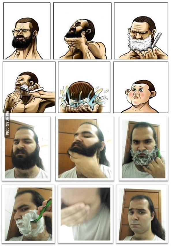 Года поздравления, прикольные картинки про бритье