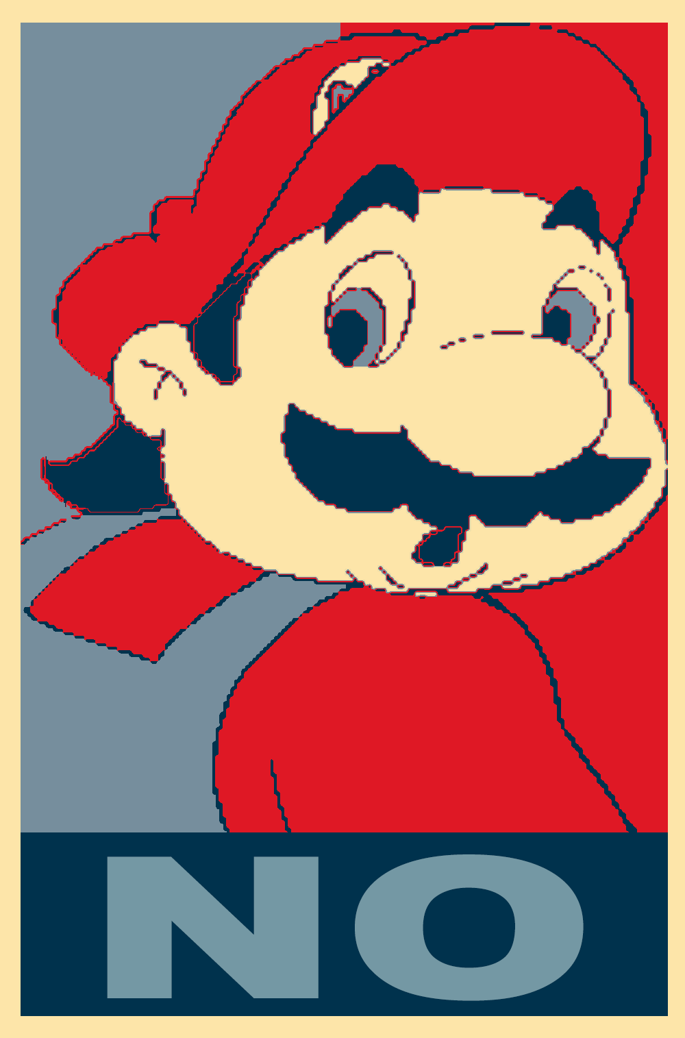 Hotel Mario No Obama Hope Posters Know Your Meme