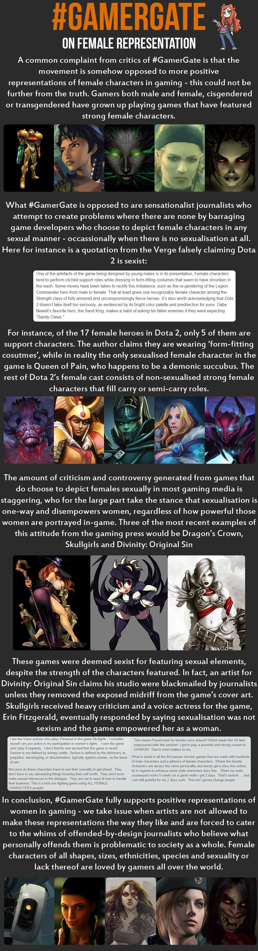 On female representation | GamerGate | Know Your Meme