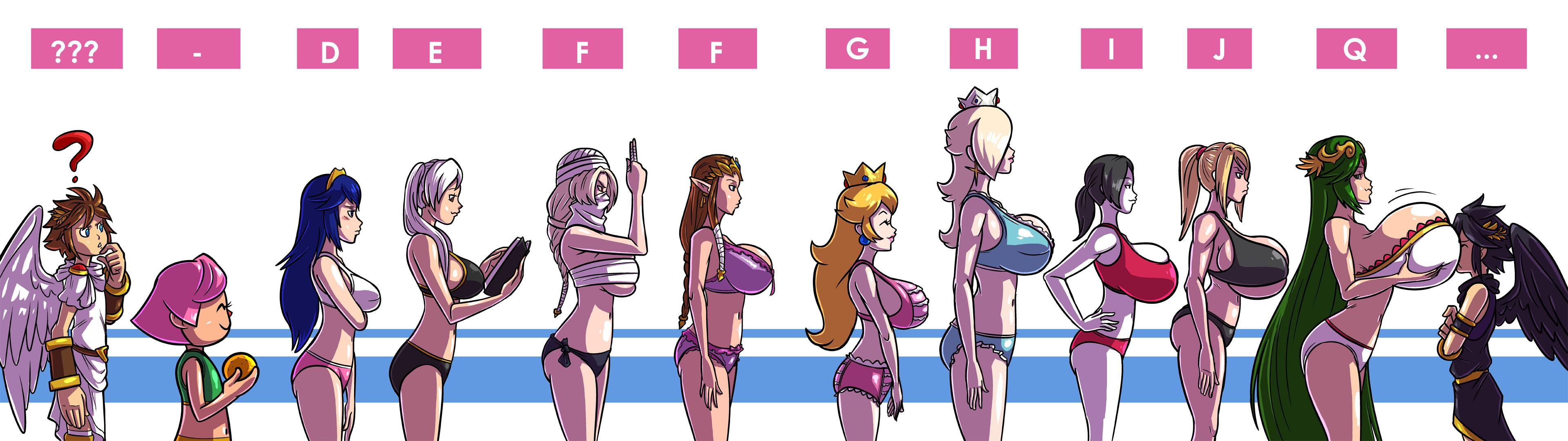 All boob size scale