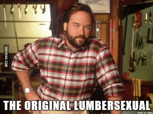 Lumbersexual meme