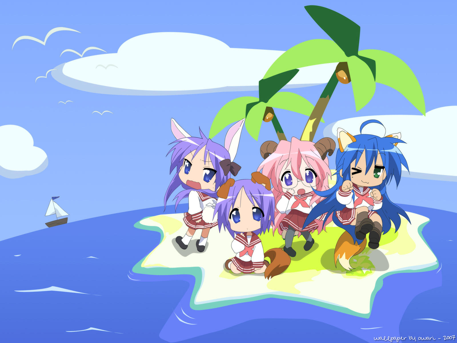 kemonomimi lucky star | lucky star | know your meme