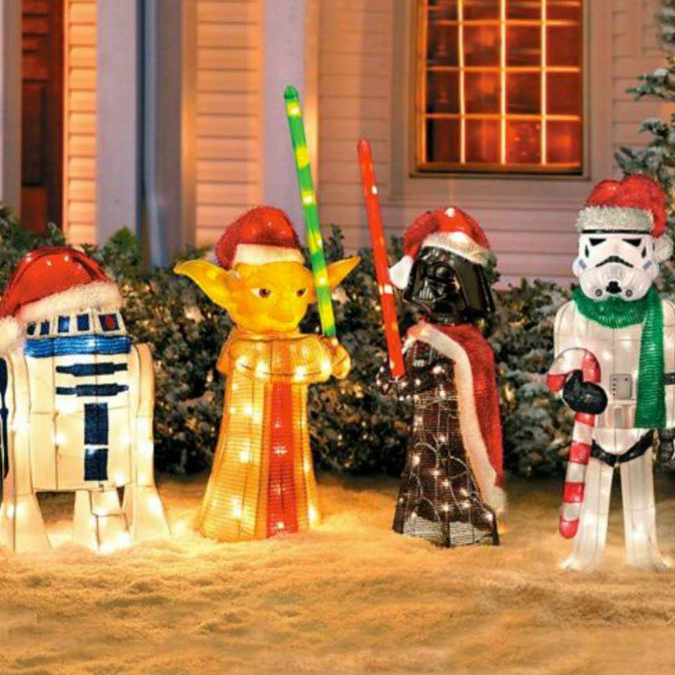 Christmas Lawn Ornaments Star Wars