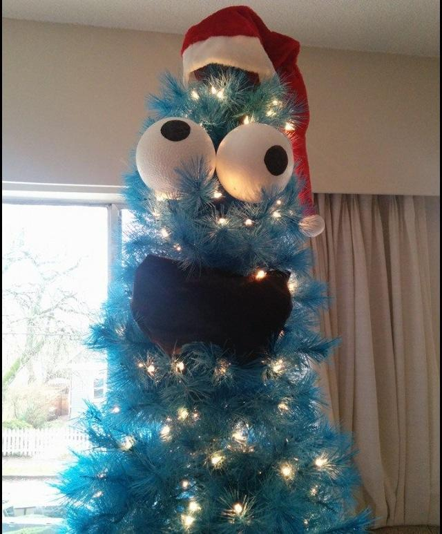 Cookie Monster Christmas Tree Sesame Street Know Your Meme