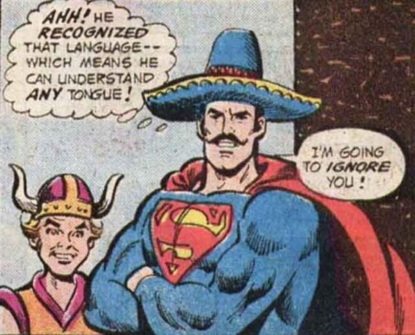 Sombrero Superman is going to ignore you | Superman | Know Your Meme