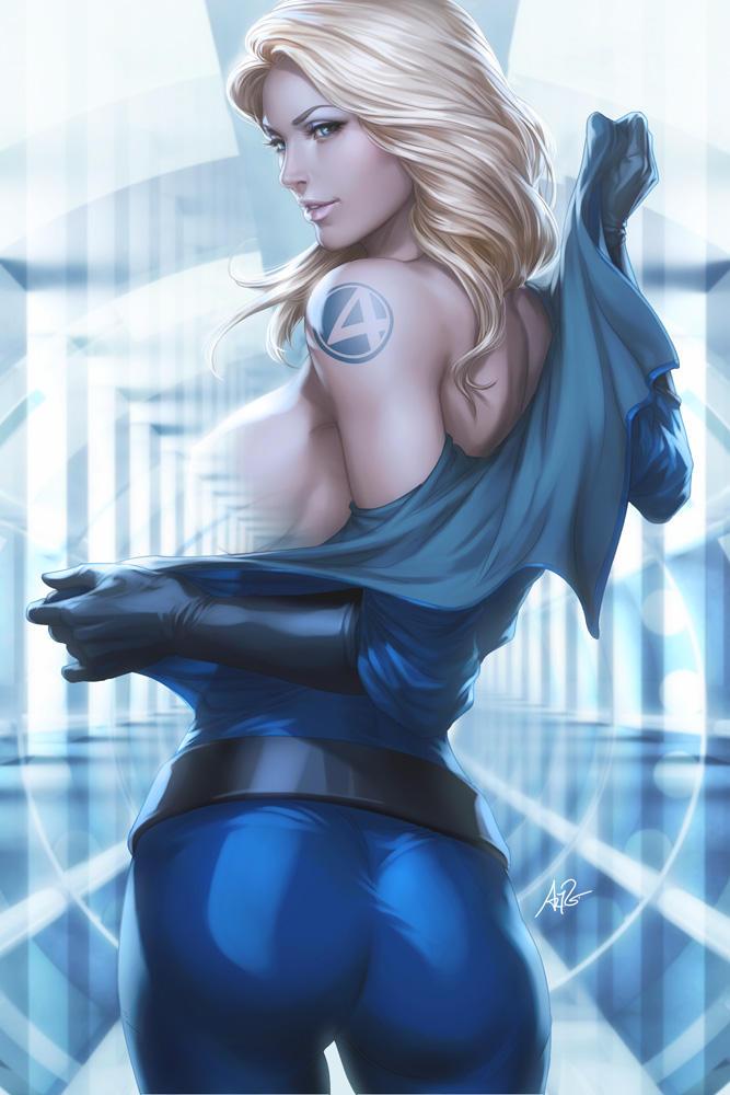 Naked sexy super hero comic