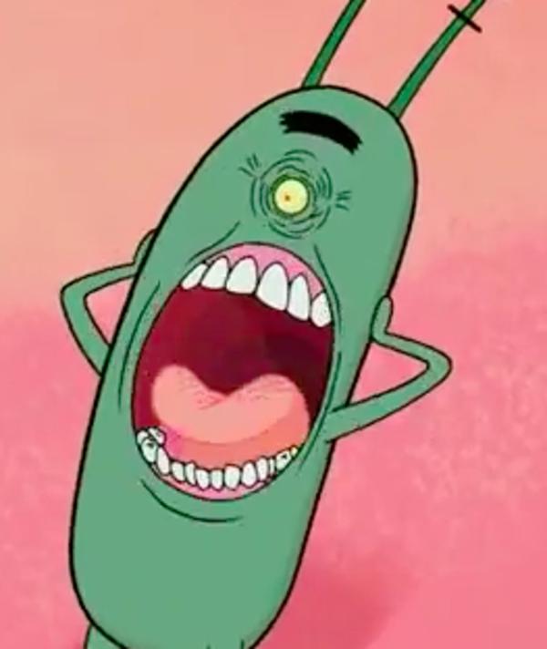 plankton s face spongebob squarepants know your meme