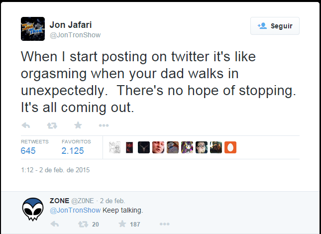 Jon Twitter And Z0ne Reply Jontron Know Your Meme Born march 24, 1990), better known by his internet pseudonym jontron, is an american comedian, reviewer, and youtuber. jon twitter and z0ne reply jontron