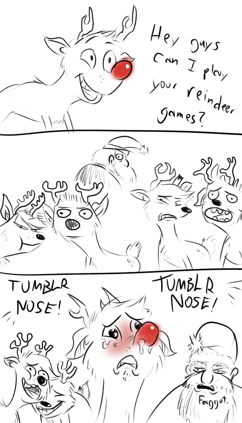 Rudolph The Tumblr Nose Reindeer Tumblr Nose Know Your Meme