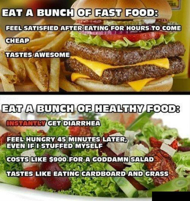 Eat A Bunch Of Fast Food Fat Logic Know Your Meme