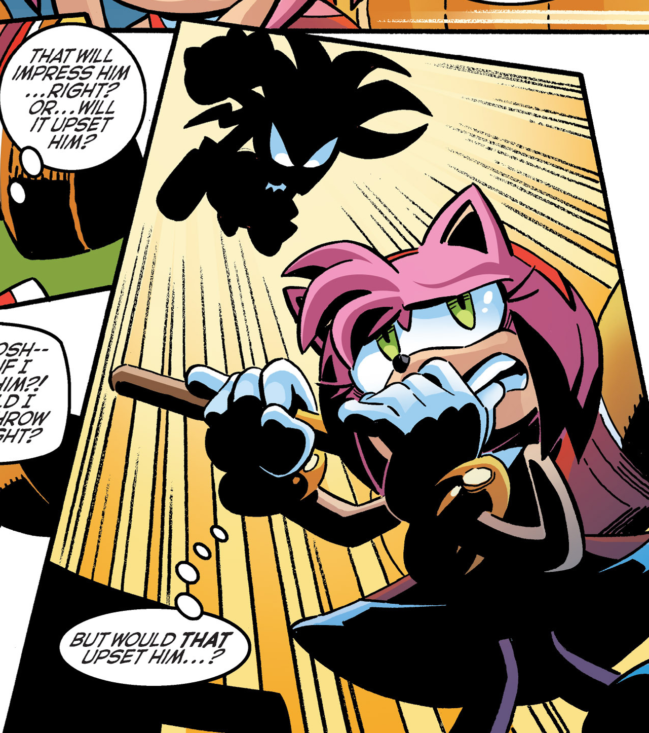And Here We Can See The Flying Echidna About To Punch A Pink Hedgehog Face In Archie Sonic Comics Know Your Meme