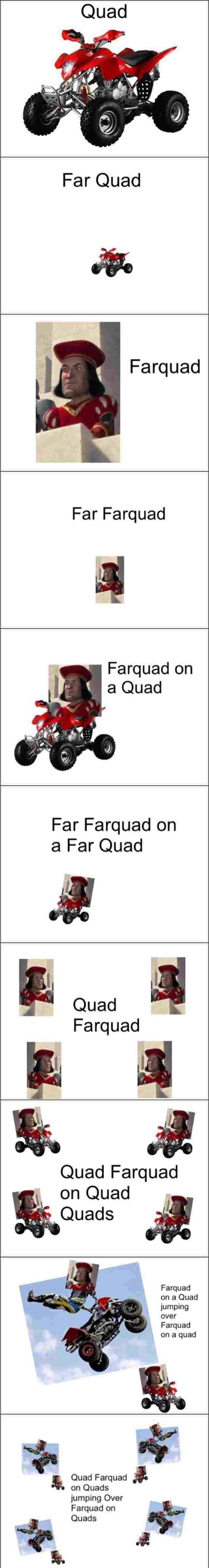 Quad Meme Farquad and Qua...