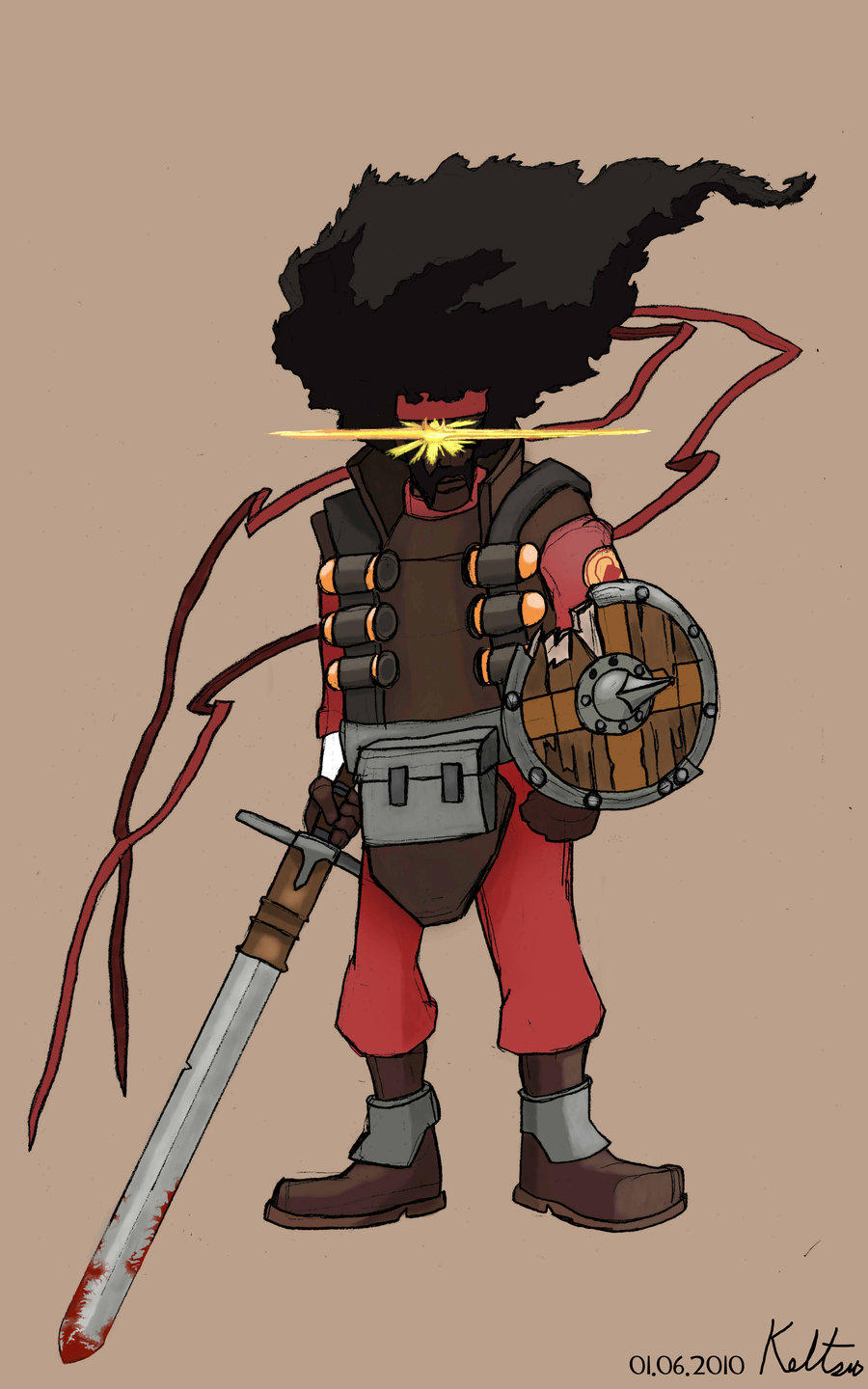 Afro Knight Team Fortress 2 Know Your Meme