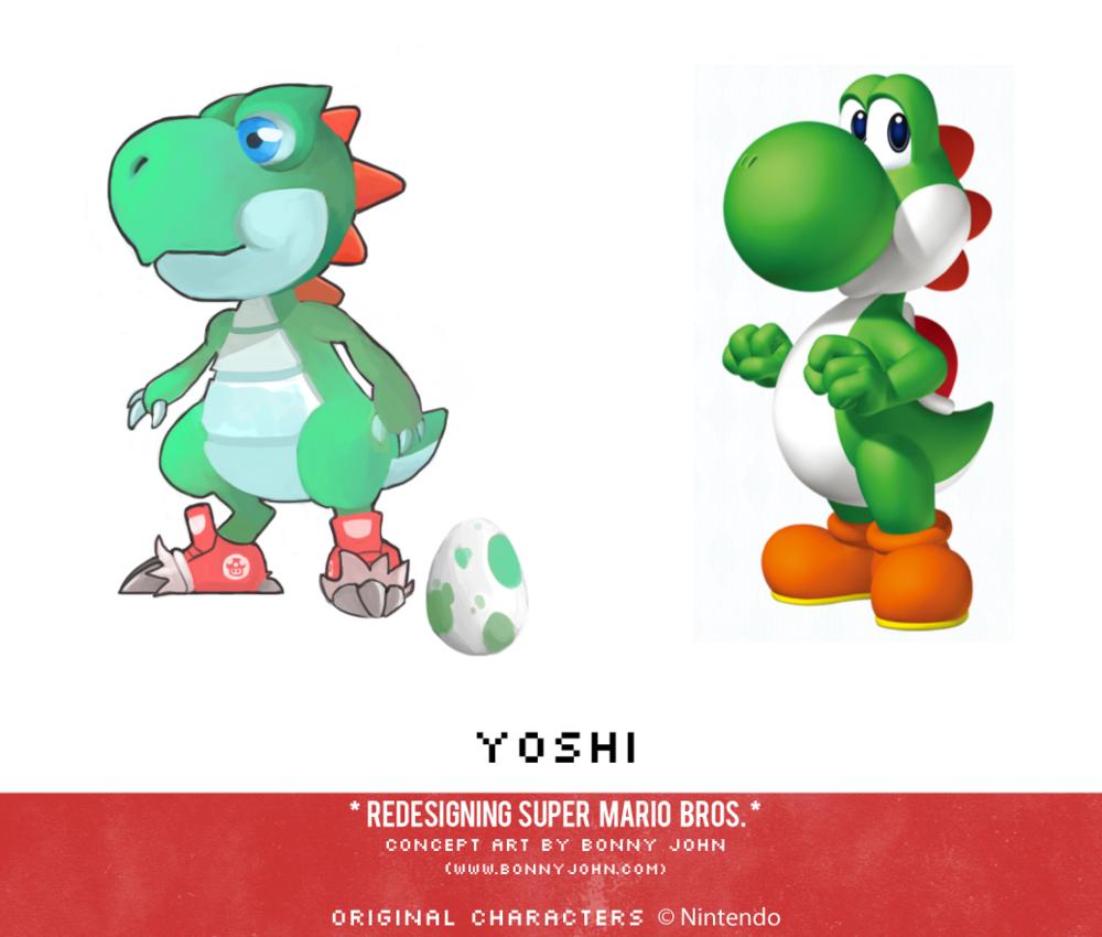 Yoshi Redesign Yoshi Know Your Meme
