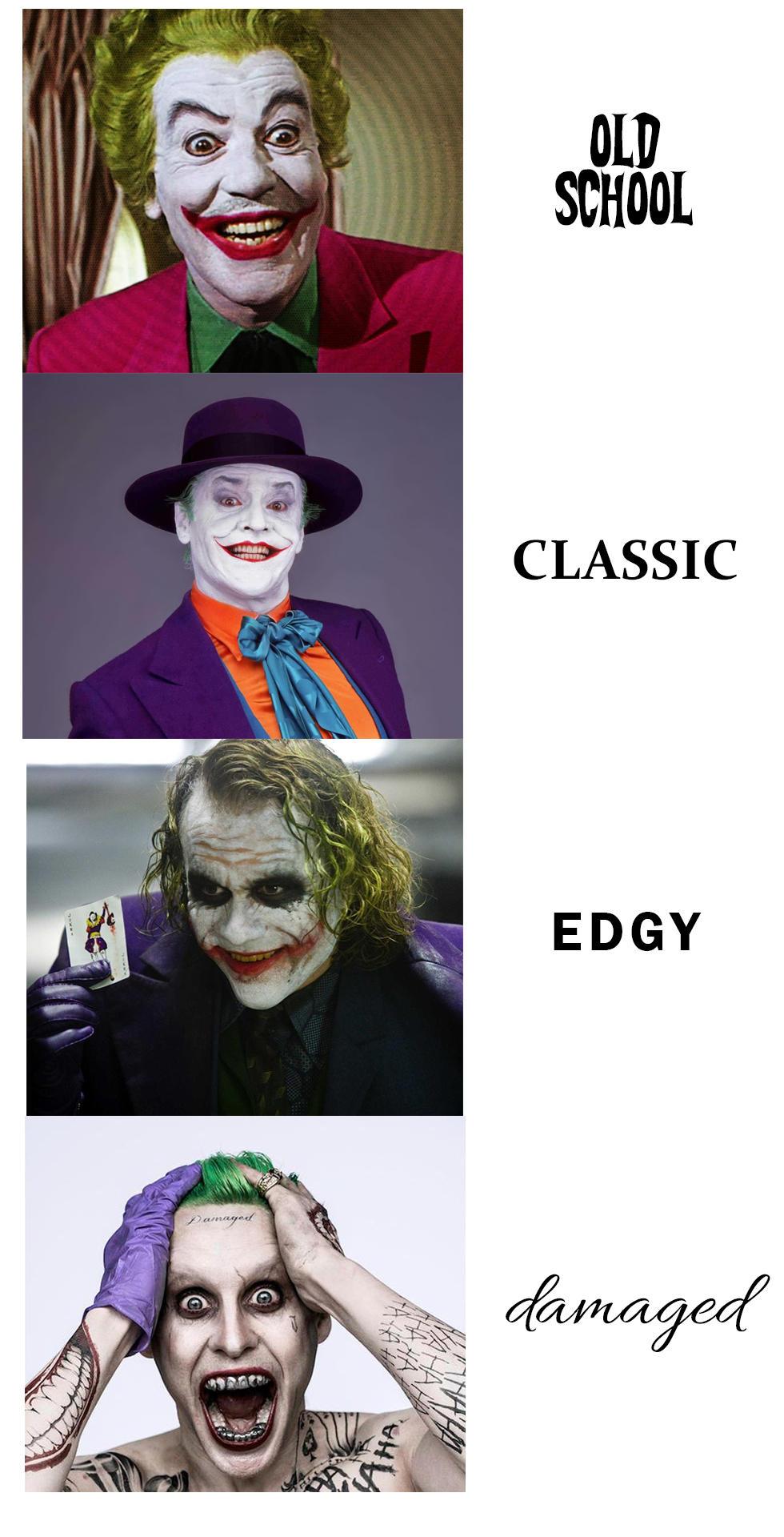 joker in film jared leto s joker know your meme
