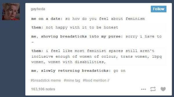 Feminism Post by gayheda | Breadsticks | Know Your Meme