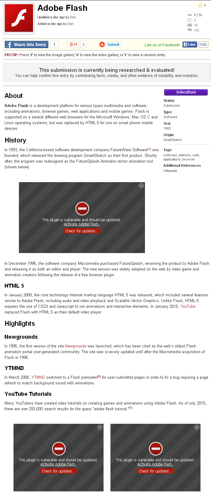 Adobe flash - Fail - check for updates | Adobe Flash | Know
