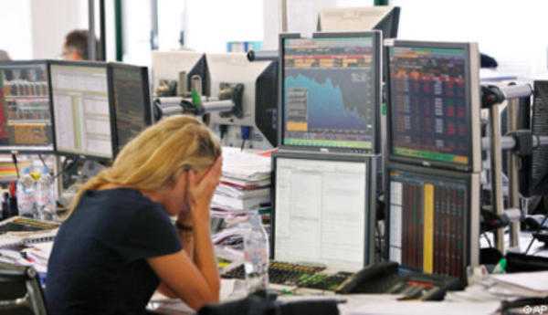 Sad Woman on Trading Floor | Sad Guys